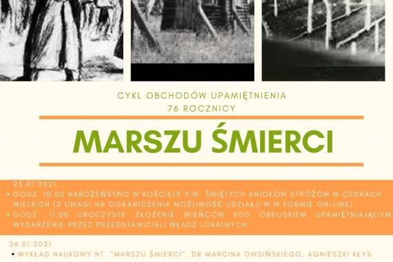 """Cykl obchodów upamiętnienia 76 rocznicy """"MARSZU ŚMIERCI"""""""